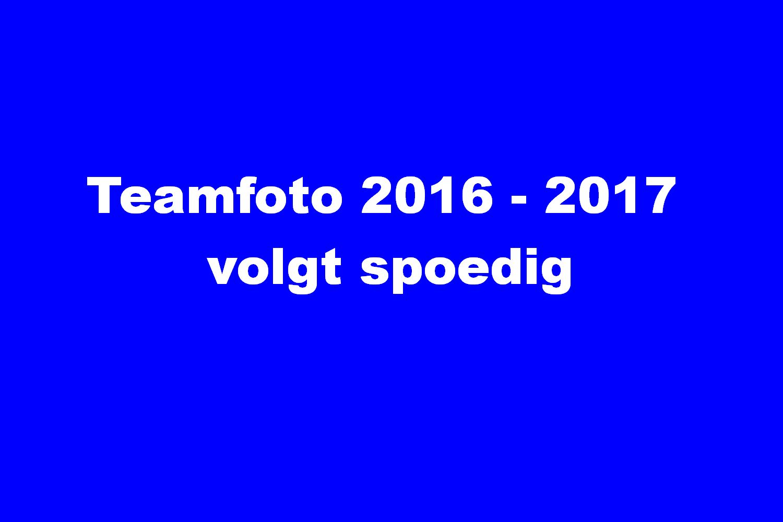 Teamfoto 2016 2017 volgt spoedig